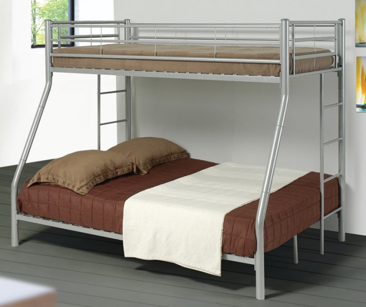 Denley Silver Twin-Full Bunk Bed
