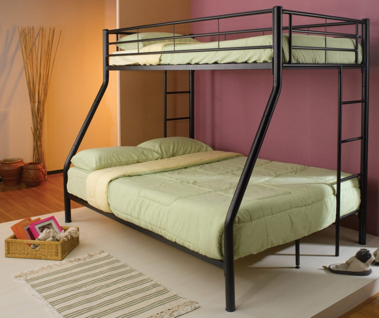 Denley Black Twin-Full Bunk Bed - Coaster