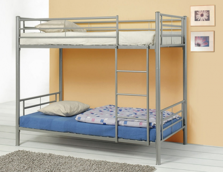 Denley Silver Twin-Twin Bunk Bed