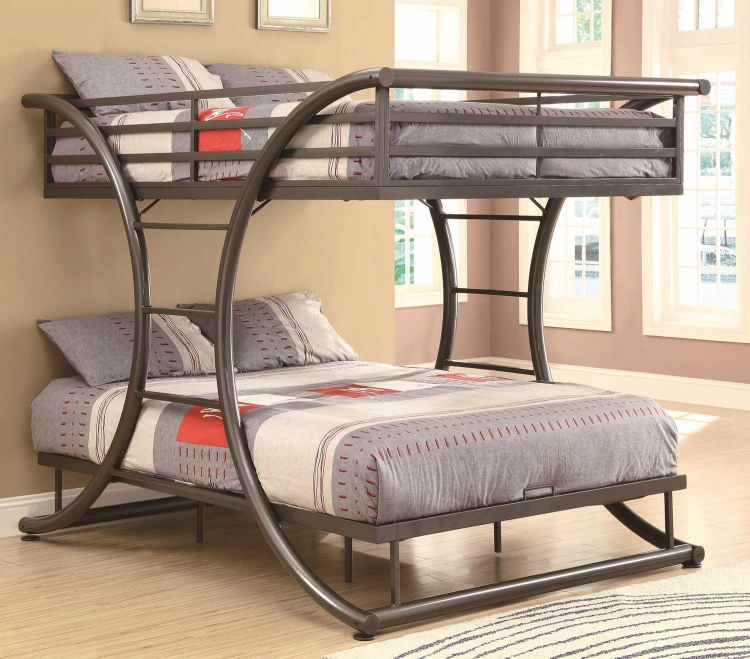 460078 Full Bunk Bed - Gunmetal