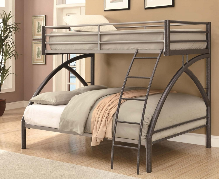 460079 Full Bunk Bed - Gunmetal/Sliver