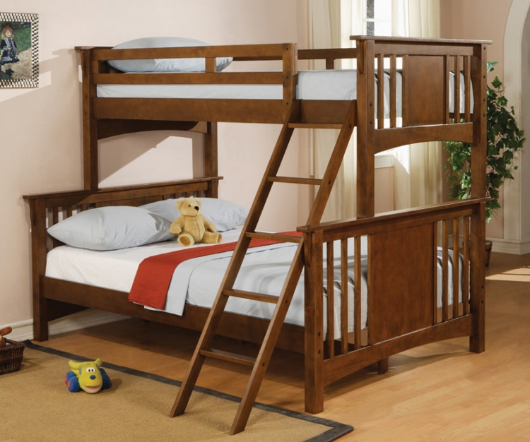 460086 Twin-Full Bunk Bed - Coaster