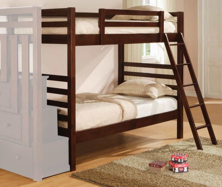 460087 Twin Bunk Bed - Coaster