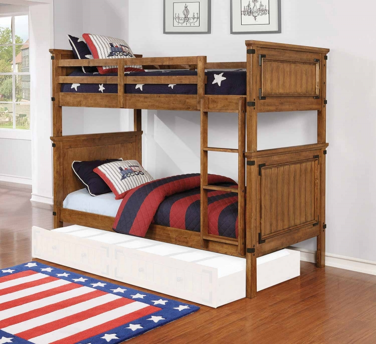 Coronado Twin/Twin Size Bunk Bed - Rustic Honey
