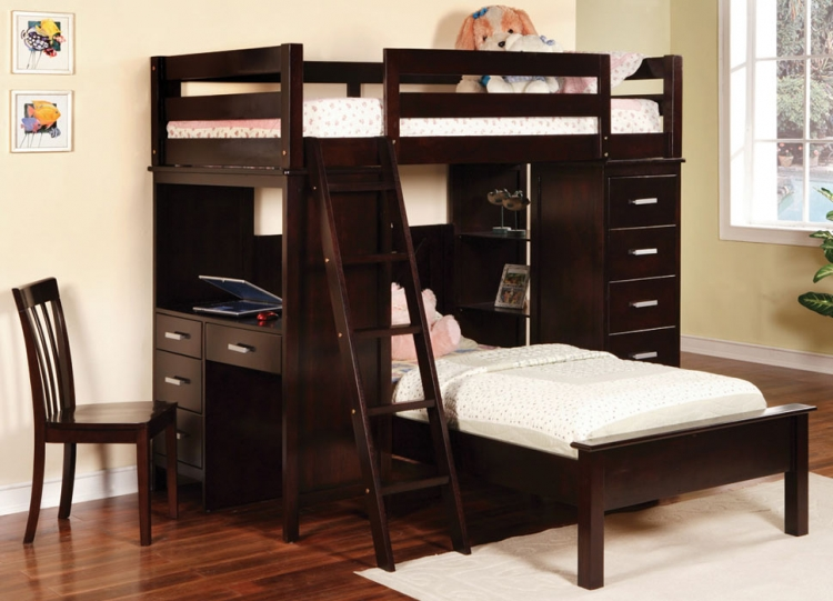 460123 Workstation Bunk Bed