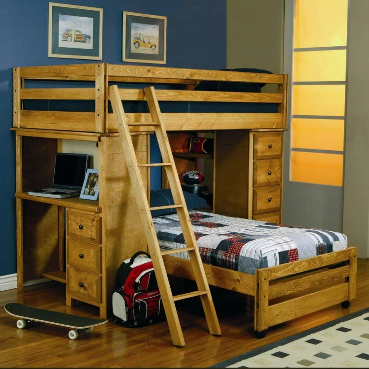 460141 Twin-Twin Loft Bed - Coaster