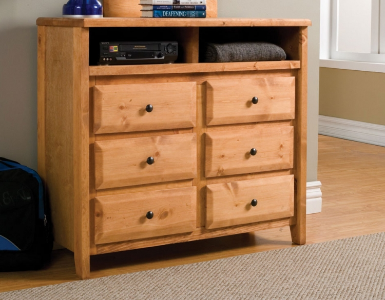 Wrangle Hill 6 Drawer Media Dresser
