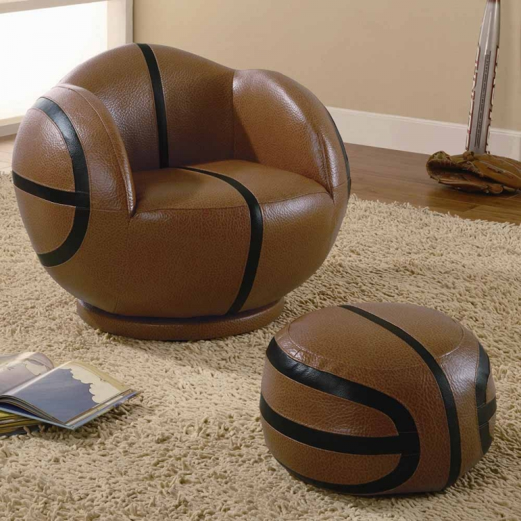 460176 Small Basketball Chair and Ottoman Set