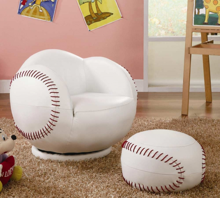 460177 Small Baseball Chair and Ottoman Set
