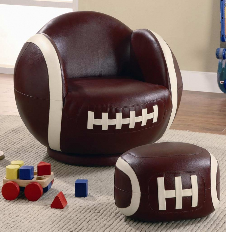 460179 Small Football Chair and Ottoman Set