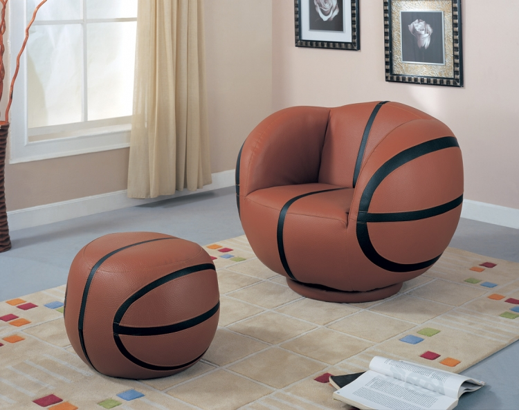 460186 Large Basketball Chair and Ottoman Set - Coaster