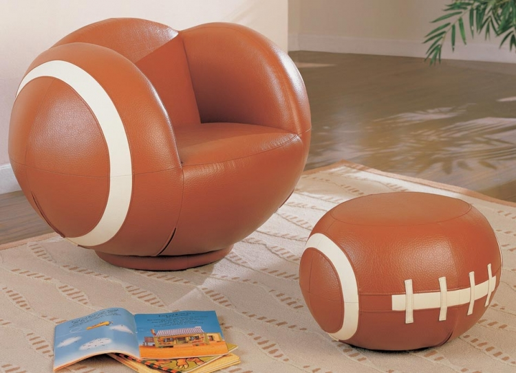 460189 Large Football Chair and Ottoman Set - Coaster