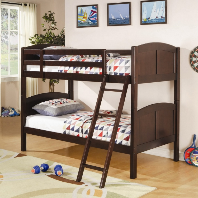 460213 Twin-Twin Bunk Bed - Coaster