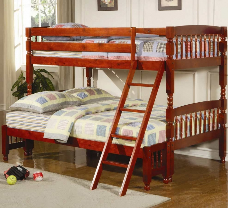 460222 Twin-Full Bunk Bed - Coaster