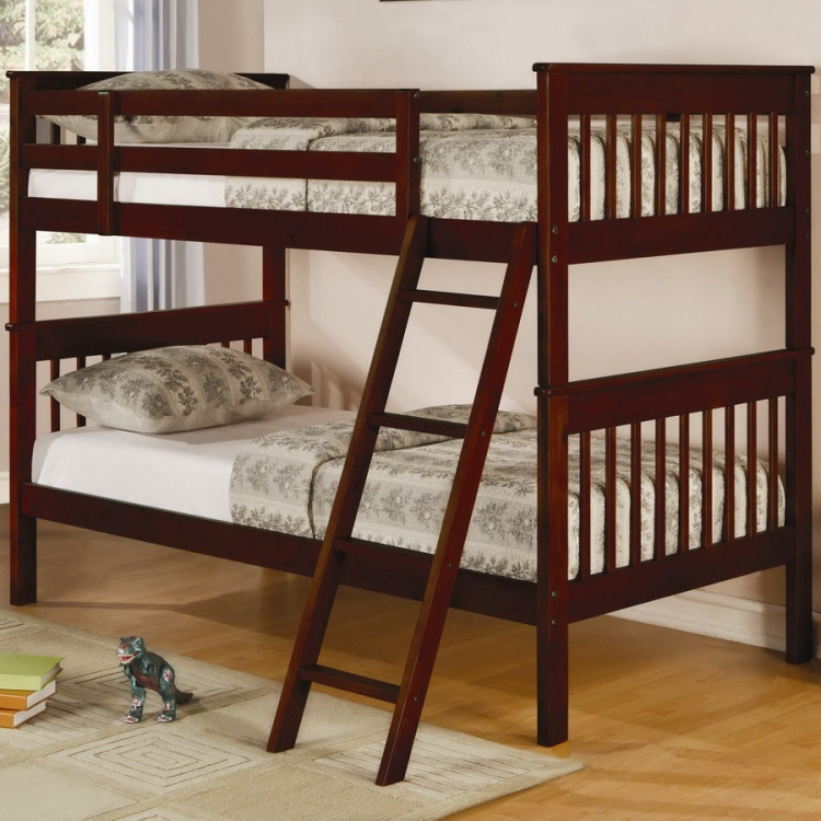 460231 Twin-Twin Bunk Bed - Coaster