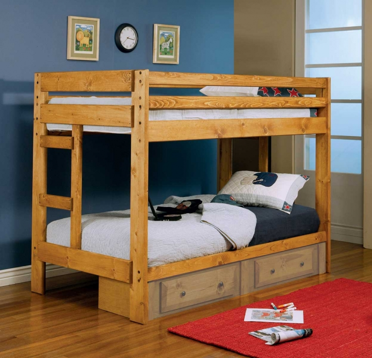 460243 Twin-Twin Bunk Bed - Coaster