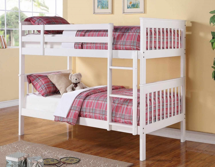 Chapman Twin/Twin Size Bunk Bed - White