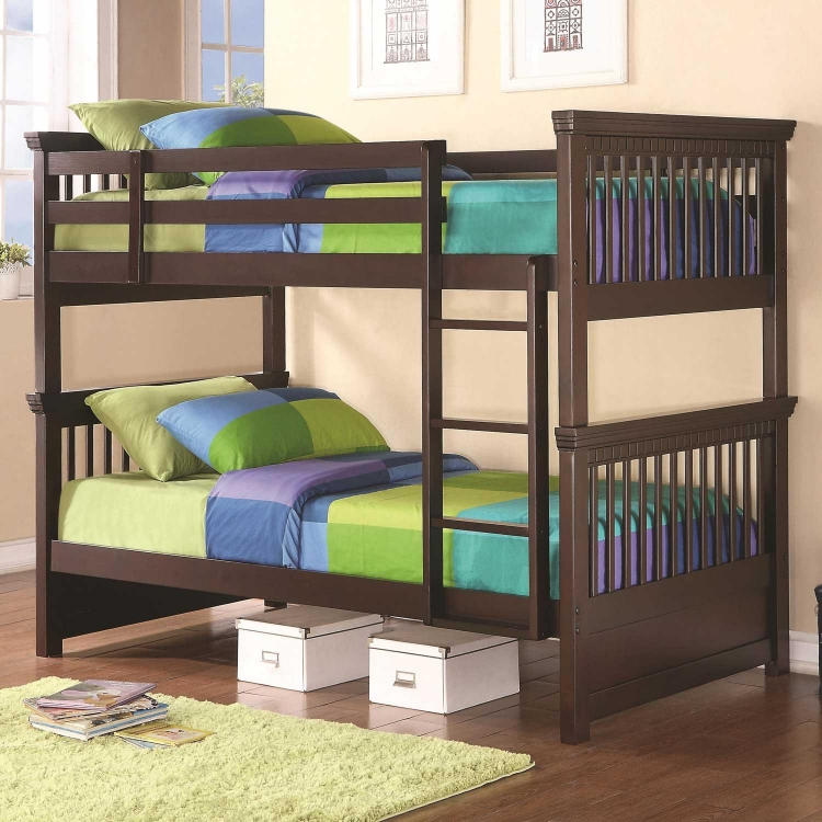 300099 Twin Bunk Bed - Cappuccino