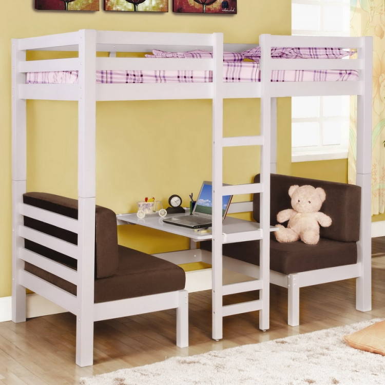 460273 Twin-Twin Convertible Loft Bed