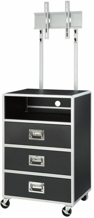 Leclair 3 Drawer Chest With Shelf - Black