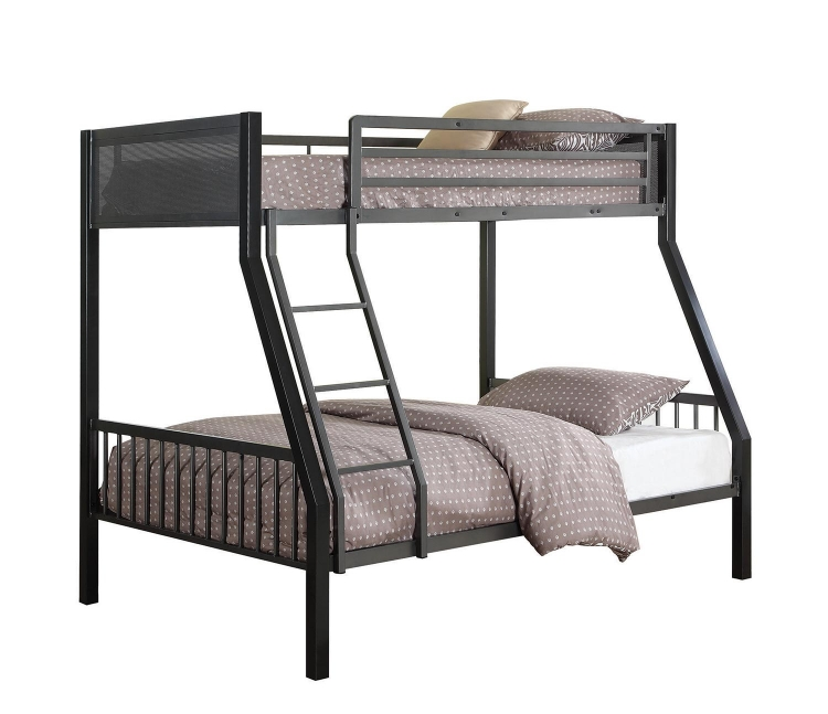 Meyers Twin/Full Bunk Bed - Black/Gunmetal