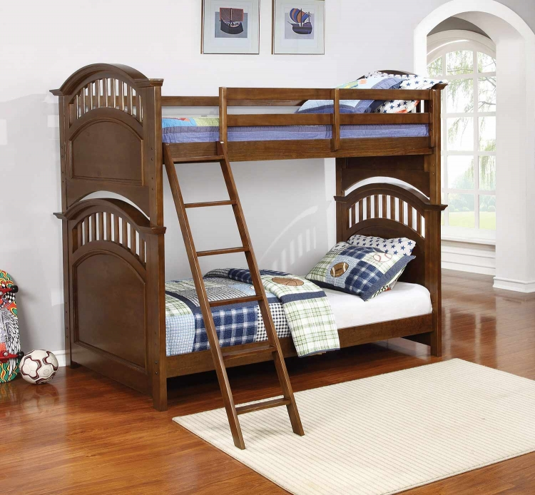 Halsted Twin/Twin Size Bunk Bed - Walnut