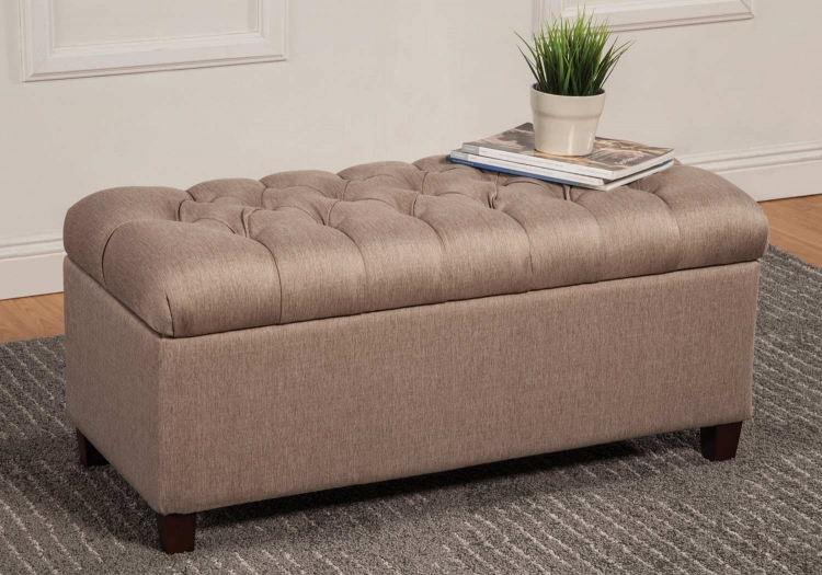 500064 Storage Bench - Taupe