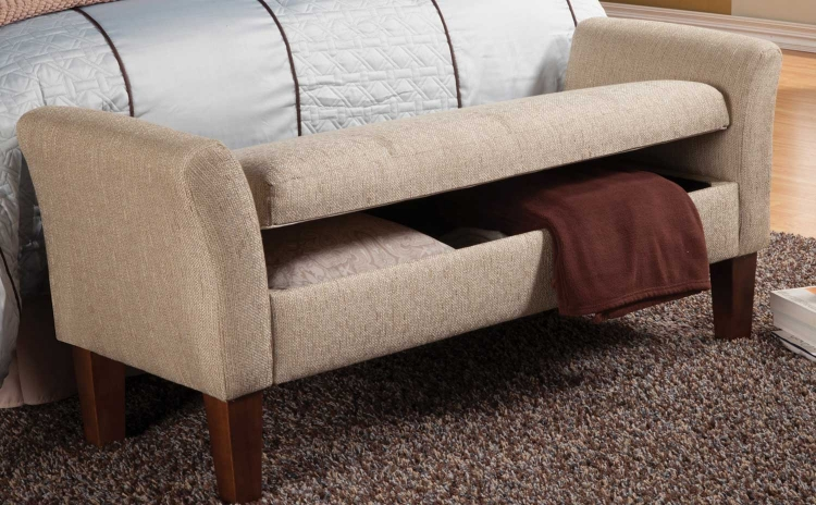 500076 Storage Bench - Tan