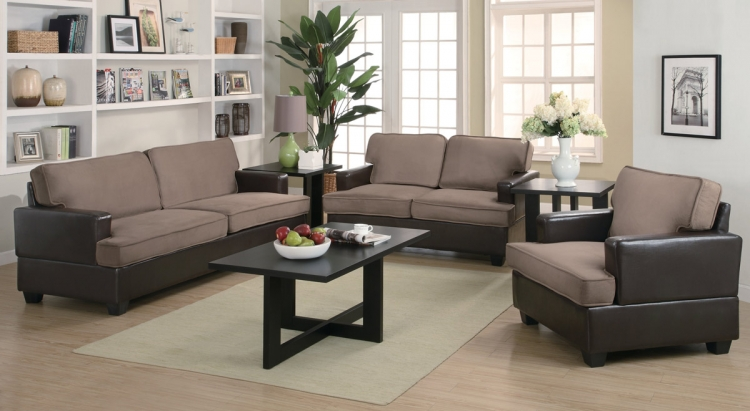 Caleb 3 Piece Living Room Set - Coaster