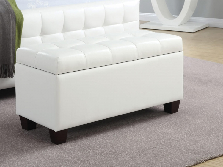 500129 Storage Bench - White