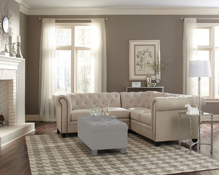 500222 Sectional Sofa   Oatmeal