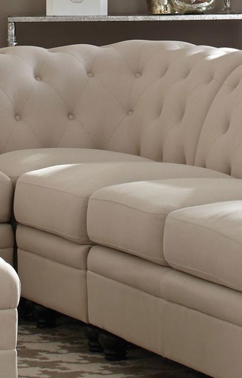 Coaster 500222 Armless Chair - Oatmeal