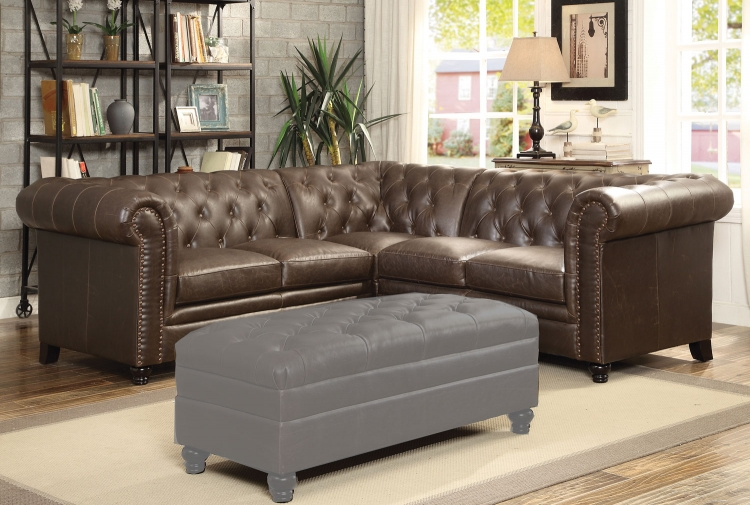 Roy Sectional Sofa - Brown