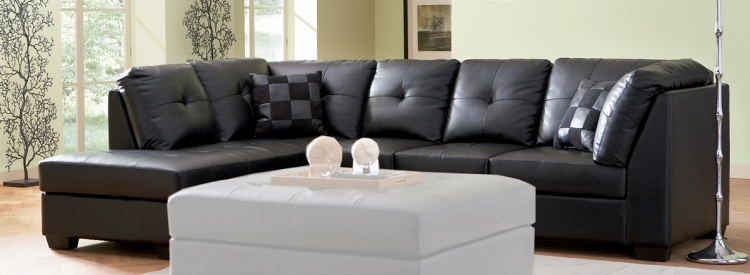 Darie Sectional - Black - Coaster