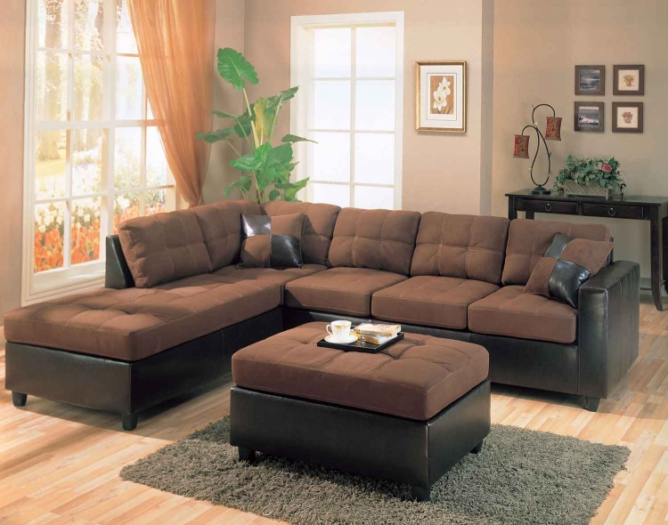 Harlow Sectional Sofa Set - Chocolate - Coaster