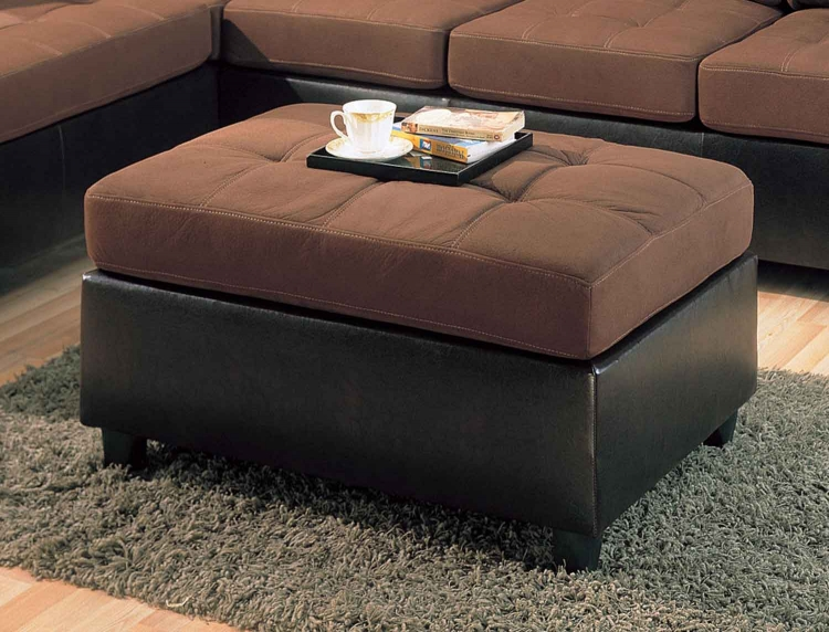 Harlow Ottoman - Chocolate - Coaster