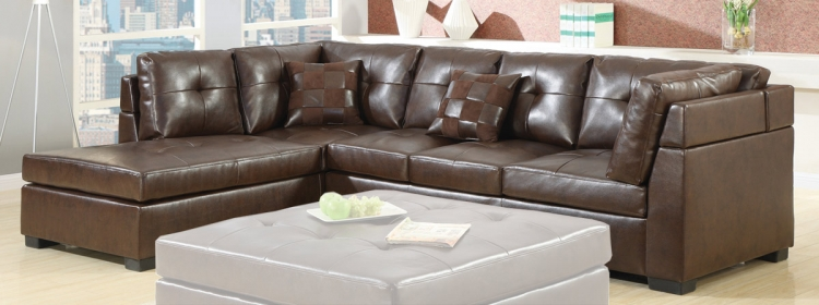 Darie Sectional - Brown