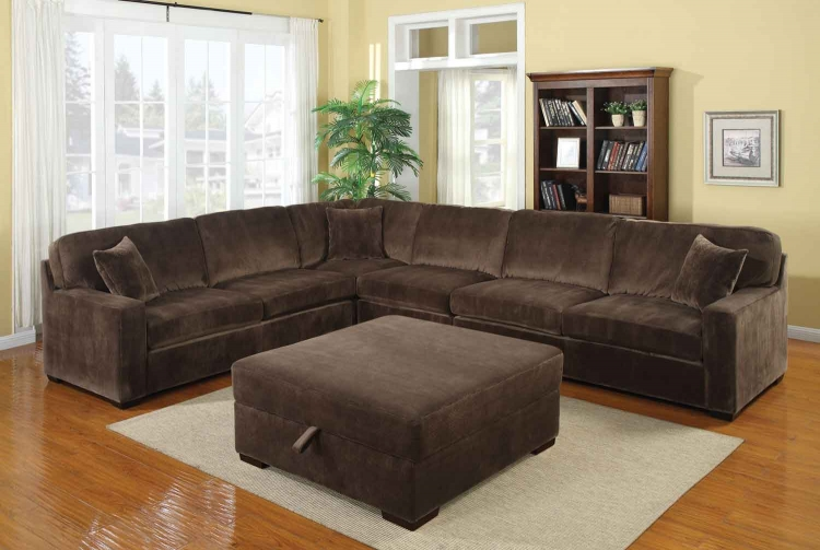 Luka Sectional Sofa Set - Coffee Bean