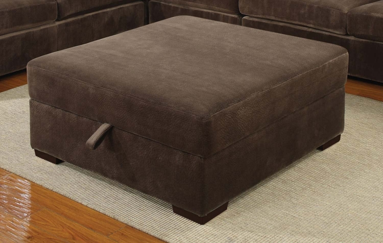 Luka Storage Ottoman - Coffee Bean - Coaster