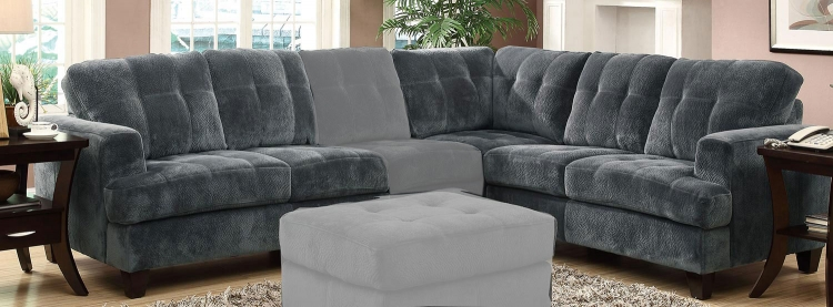 Hurley Sectional Sofa - Charcoal