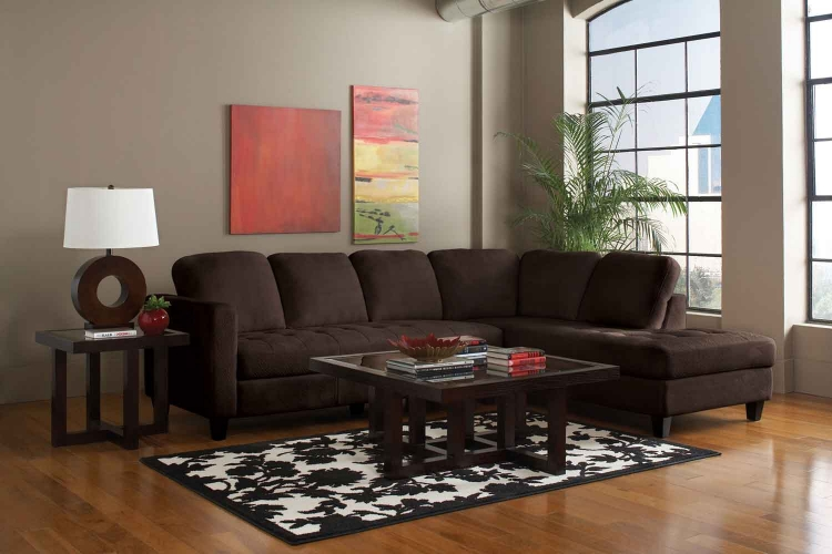 Walker Sectional - Chocolate