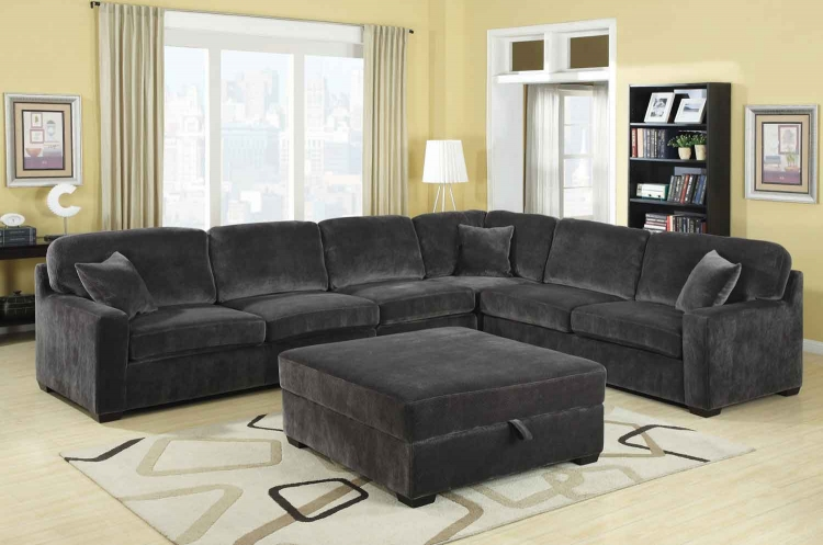 Luka Sectional Sofa Set - Charcoal - Coaster