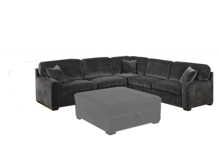 Luka Sectional - Charcoal - Coaster