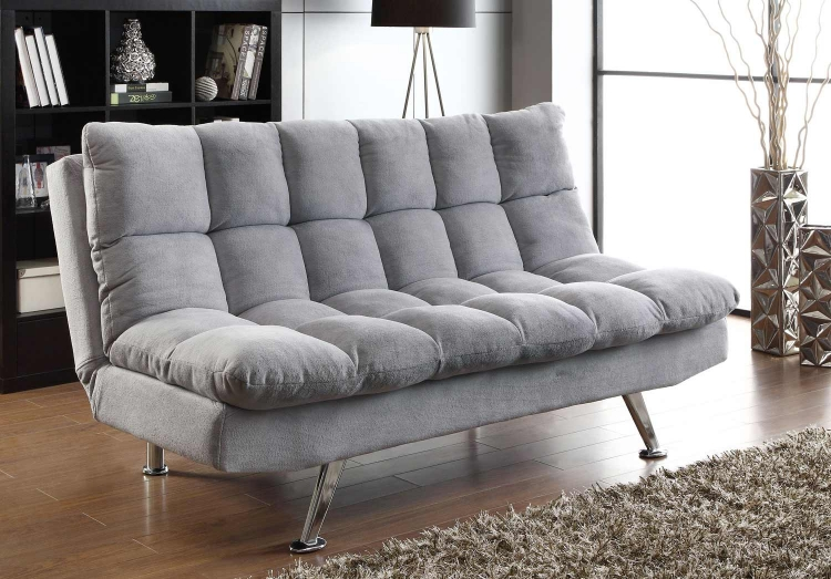 500775 Sofa Bed - Grey - Chrome