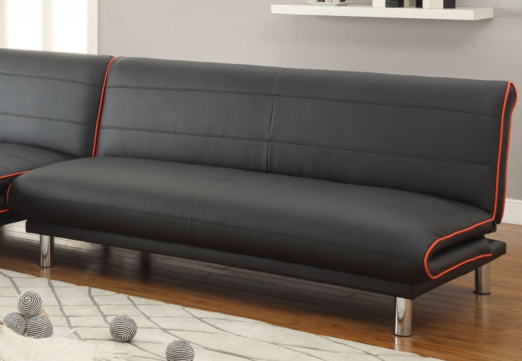 500776 Sofa Bed - Black/Red