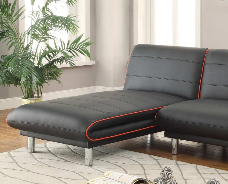 500777 Chaise - Black/Red
