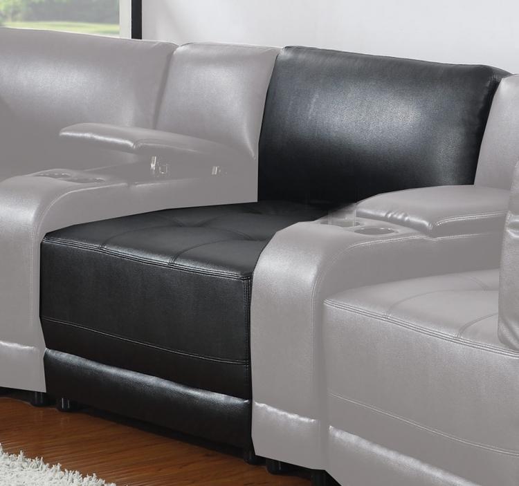 Kayson Armless Chair - Black