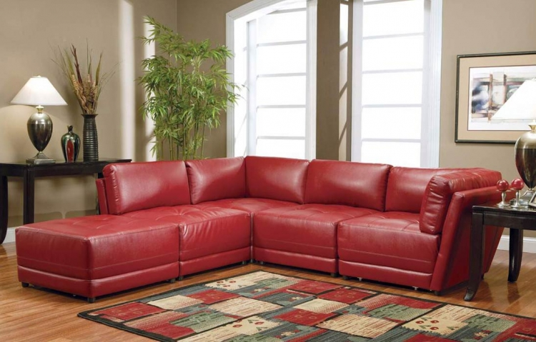 Kayson Sectional Sofa Set - Red - Coaster