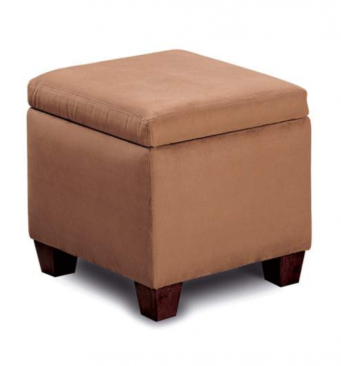 Cermak Brown Storage Cube Ottoman - Coaster