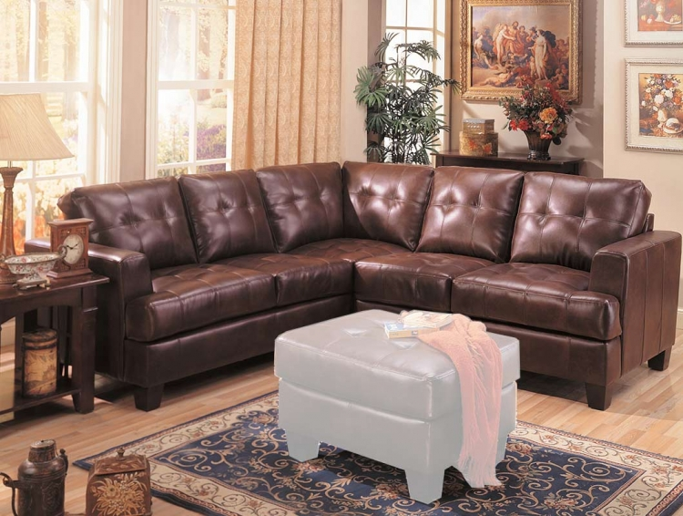 Samuel Sectional Sofa - Brown